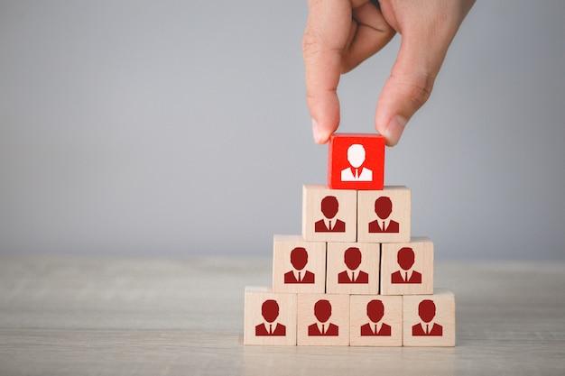 Human resource management en recruitment bedrijfsconcept, bedrijfsstrategie om te slagen