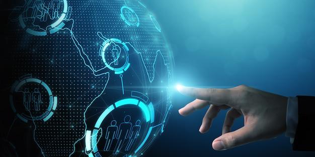 Human resource management en werving werkgelegenheid bedrijfsconcept