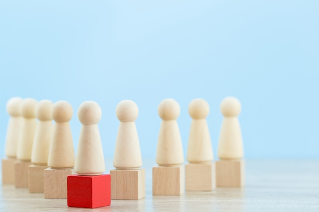Human resource management, het vinden van mensen uit het bedrijfsleven en een commercieel team. met bedrijfsleidersconcepten - beeld.
