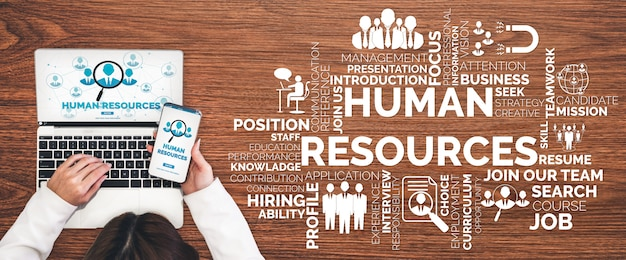 Human resources en mensen netwerkconcept