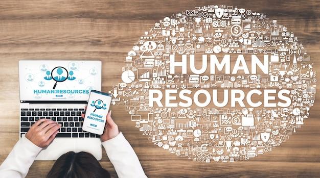 Human resources en mensen netwerkconcept