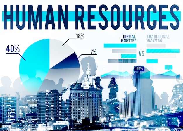 Human resources recruitment carrière job inhuren concept