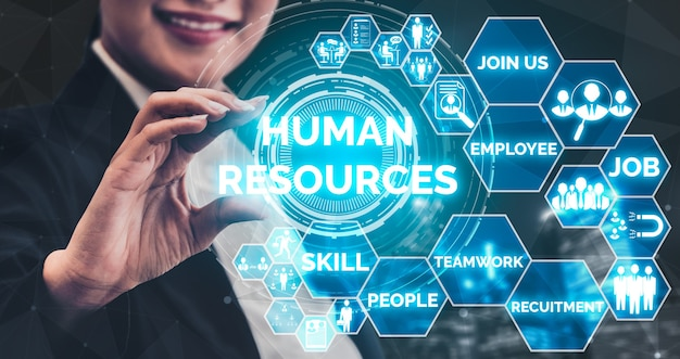 Human resources recruitment en people networking concept