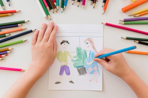 Humanitaire tekening concept