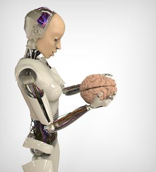 Humanoïde met hersenen