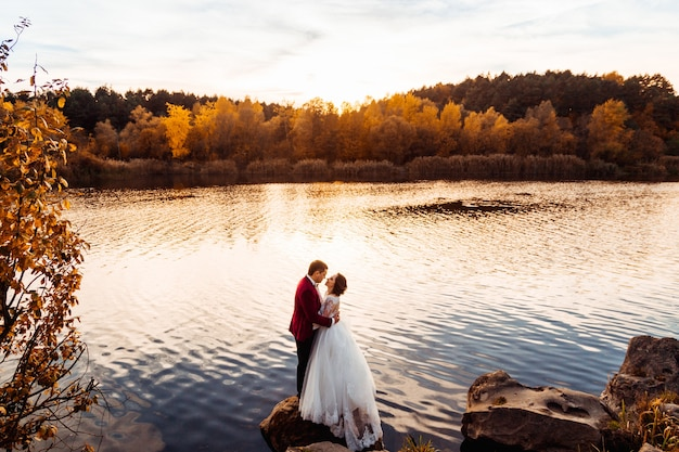 Huwelijk mens mooi bruidegom elegant