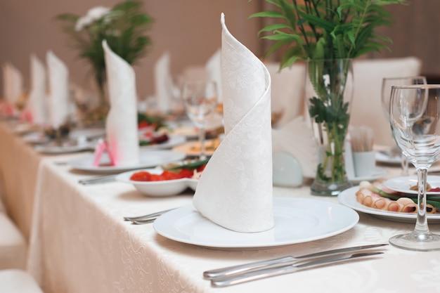 Huwelijksbanket in een restaurant, partij in een restaurant