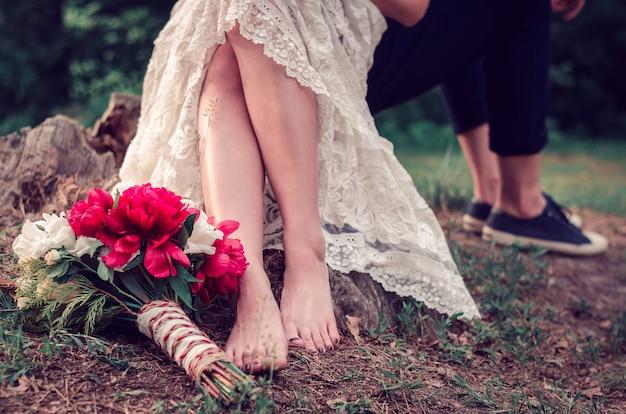 Huwelijksboeket ter plaatse
