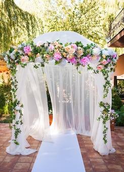 Huwelijksceremonie decoraties