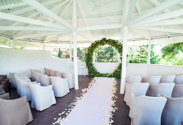 Huwelijksceremonie decoraties.