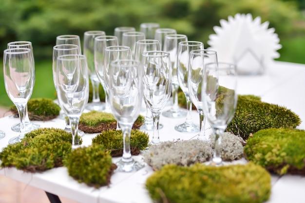 Huwelijksdecoraties, natuur, huwelijksceremonie