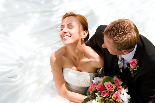Huwelijkspaar - bruid en bruidegom