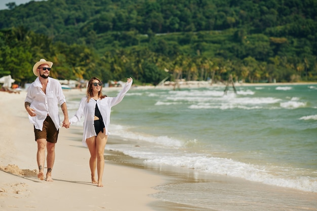 Huwelijksreis op het strand