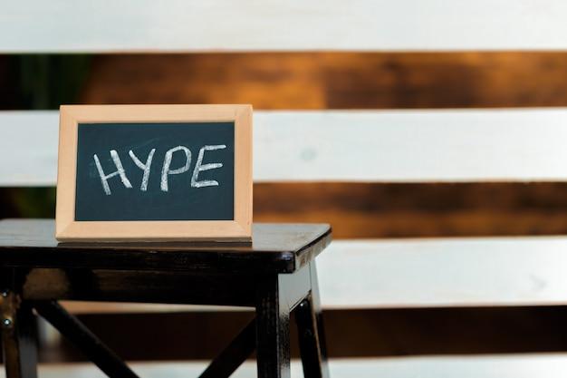 Hype tijd concept
