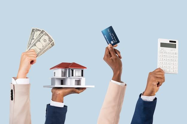 Hypotheken lening financiering onroerend goed concept