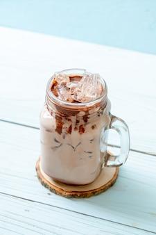Iced chocolade milkshake drankje