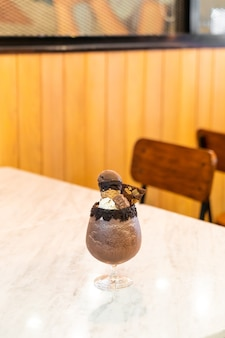 Iced chocolate milkshake smoothie