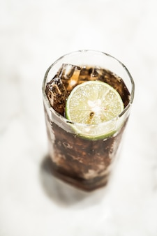 Iced coke-glas