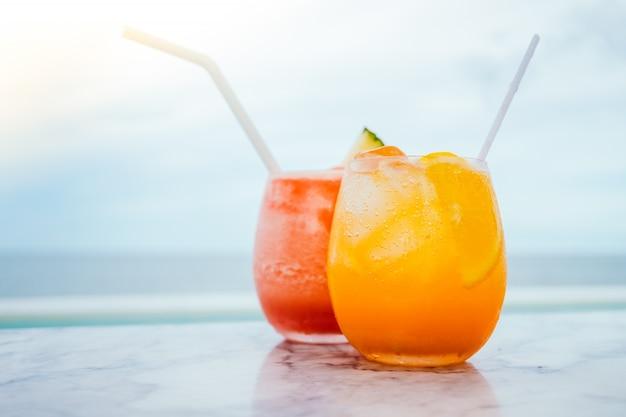 Iced drink cocktails glas