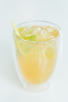 Iced lemon glass