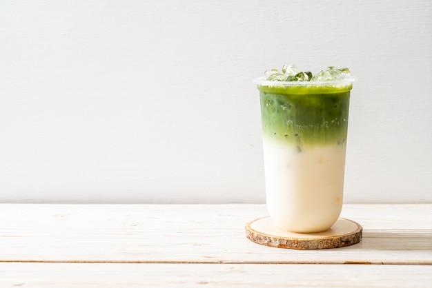 Iced matcha latte groene thee