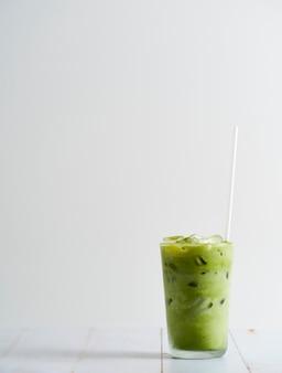 Iced matcha latte groene thee.