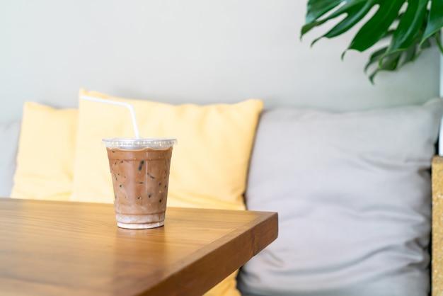 Iced mokka koffiekopje