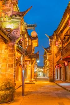 Iconische oude oriëntatiepunt chinese provincie land