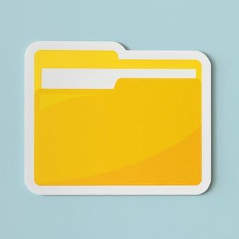 Icoon van een gele map