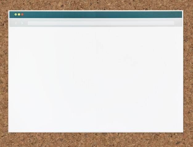 Icoon van een webbrowser