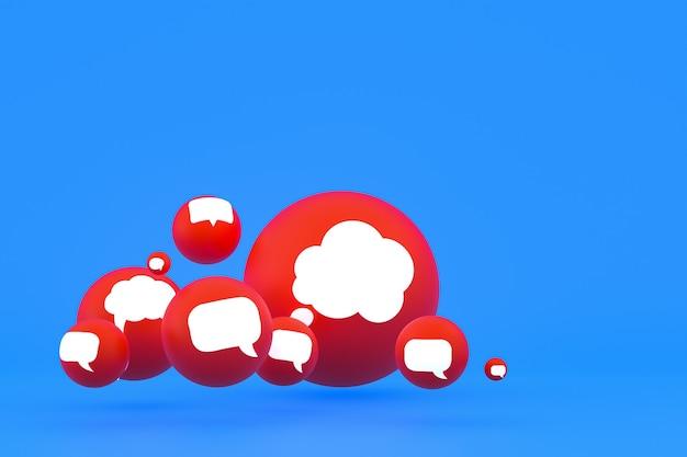 Idee commentaar of denk reacties emoji renderen, sociale media ballonsymbool met commentaar pictogrammen patroon