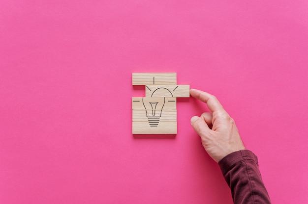 Idee en innovatie conceptueel beeld