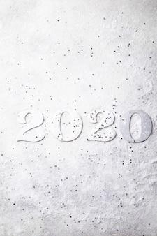 Idee gelukkig nieuwjaar 2020. mooie kerstkaart.