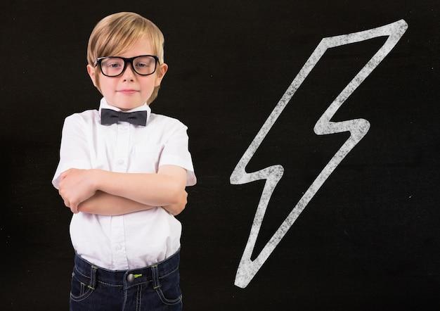 Idee speeltijd computer grafische handtekening klaslokaal