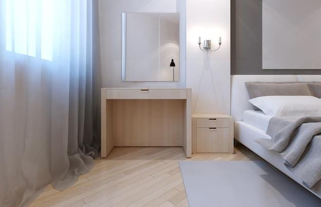 Idee van een avant-gardistische slaapkamer