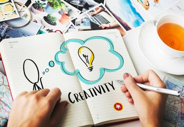 Ideeën creatief innovatie ontwerpconcept
