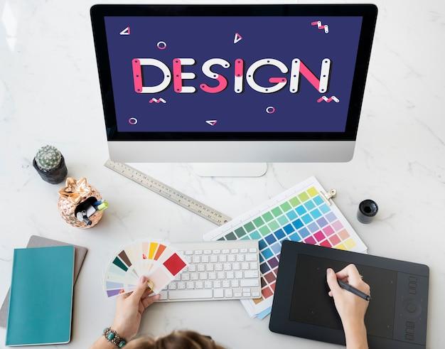 Ideeën ontwerp ontwerp creatief schets objectief concept