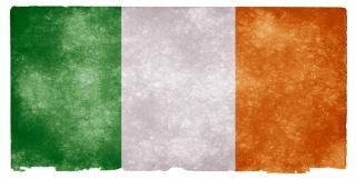 Ierland grunge vlag papier