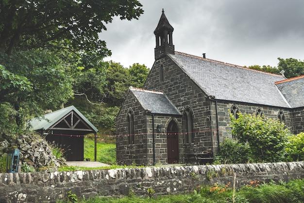 Iers traditioneel bakstenen huis. noord-ierland.