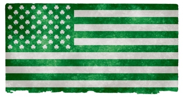 Ierse amerikaan grunge vlag