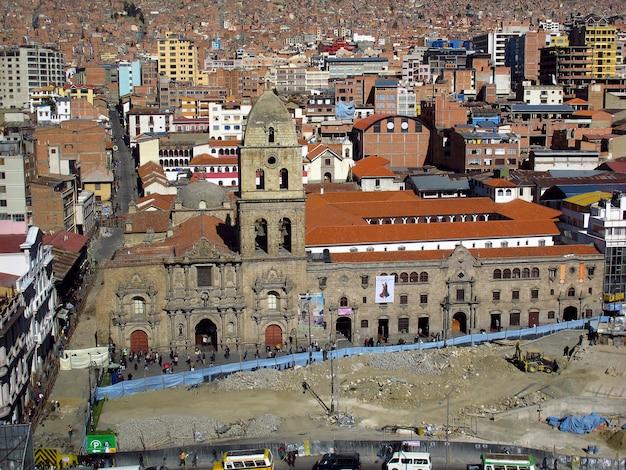 Iglesia de san francisco, de kerk in la paz, bolivia