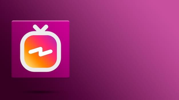 Igtv instagram-pictogram op platform