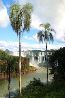 Iguazudalingen aan argentijnse kant in puerto iguazu, argentinië