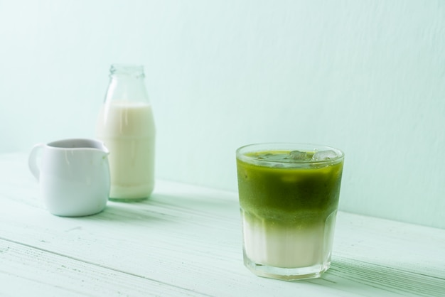 Ijs matcha groene thee latte