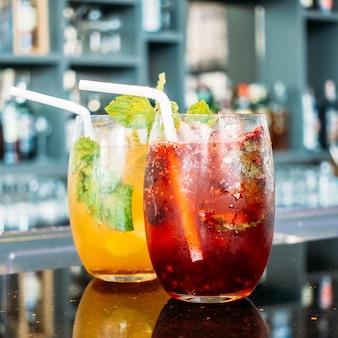 Ijscocktails drinken glas