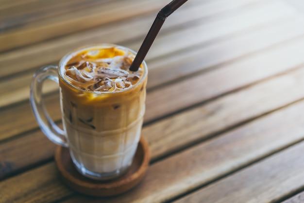 Ijskoude latte koffie