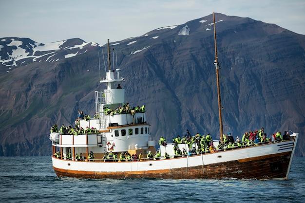Ijsland landschap met prachtig waterlandschap