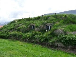 Ijslandse grasmat huis