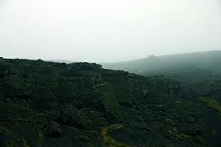 Ijslandse rotsachtige landschap