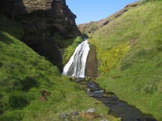 Ijslandse waterval, de natuur, spatten